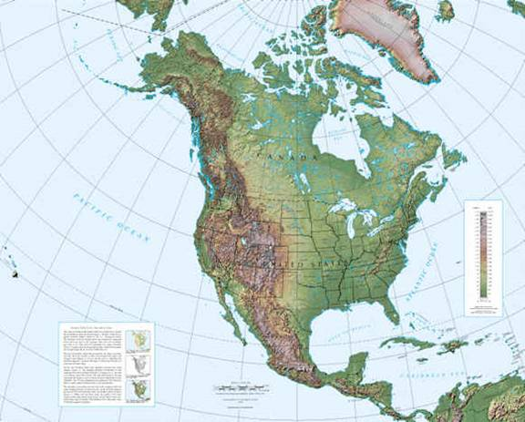 topo map of north america Geog 258 Maps And Gis