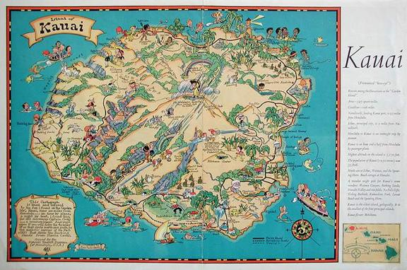 Geog 258 Maps and GIS – Tourist Map Of Kauai