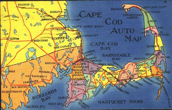 Geog Maps And GIS - Us map cape cod